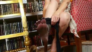 Big clitted milfs Raquel and Sable getting hot in pantyhose